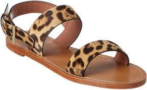 RED Valentino Leopard Ponyskin Flat Sandal