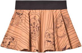 Mini Rodini Brown Fox print Skirt
