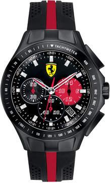Ferrari Scuderia Watch, Men's Chronograph Race Day Black and Red Silicone Strap 44mm 830023
