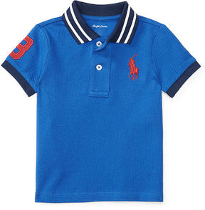 Ralph Lauren Baby Boy Cotton Mesh Polo Shirt
