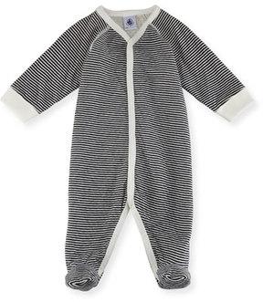 Petit Bateau Striped Footie Pajamas, Size Newborn-6M