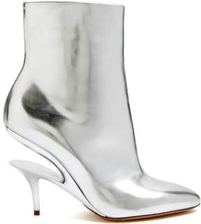 Maison Margiela Suspended-heel leather ankle boots