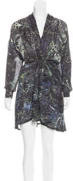 Edun Printed High-Low Dress