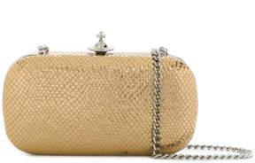 Vivienne Westwood snake skin effect clutch bag
