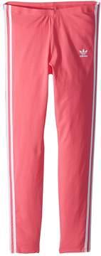 adidas Kids 3-Stripes Leggings Girl's Casual Pants