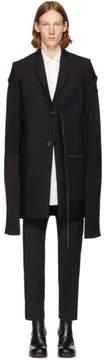 Rick Owens Black Wool Glitter Moreau Coat