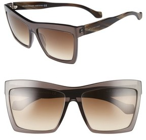 Balenciaga Women's 60Mm Oversize Sunglasses - Black/ Brown/ Silver/ Flash