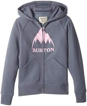 Burton Stamped Mountain Full Zip Hoodie Girl's Sweatshirt