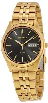 Seiko Solar Black Dial Men's Watch