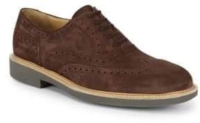 Canali Suede Brogue Dress Shoes