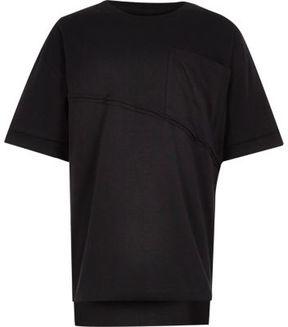 River Island Boys black boxy oversized T-shirt
