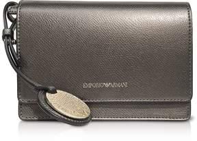 Emporio Armani Lizard Embossed Leather Mini Shoulder Bag