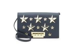 Zac Posen Earthette Star Leather Crossbody Bag