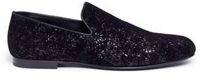 Jimmy Choo 'Sloanne' glitter velvet loafers