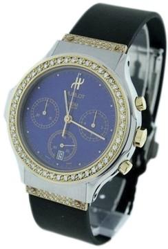 Hublot Classic Elegant Chronograph Gold and Steel Diamond Watch
