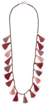 Kenneth Jay Lane Gold-Tone Bead And Tassel Necklace