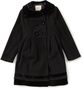 Copper Key Big Girls 7-16 Velvet-Trim Coat
