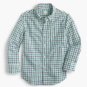J.Crew Kids' Secret Wash shirt in double plaid