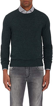 Isaia Men's Suede Elbow Patch Cashmere Sweater