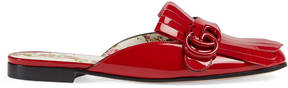 Gucci Marmont patent leather slipper