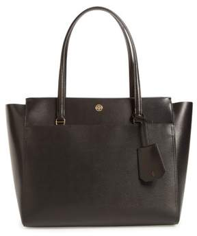 Tory Burch Parker Leather Tote - Black