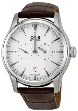 Oris Artelier Regulateur 74976674051 Stainless Steel & Leather 40.5mm Watch