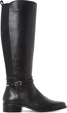 Dune Ladies Black Classic Taro Leather Knee-High Boots