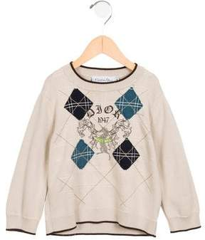 Christian Dior Boys' Logo Printed Sweater