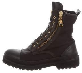 Versace Medusa Combat Boots