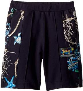Versace Kids Shorts w/ Sea Shore Design on Sides Boy's Shorts