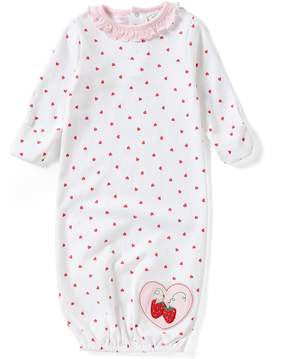 Starting Out Baby Girls Newborn-6 Months Heart-Print Strawberry Gown