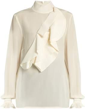 Stella Jean Intendere ruffled silk-crepe blouse