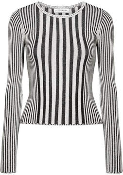 Altuzarra Seine Ribbed Stretch-knit Sweater - Black
