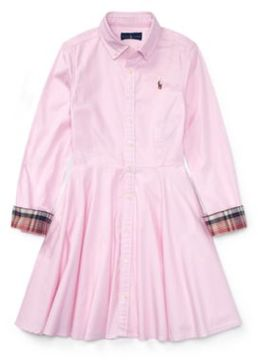 Ralph Lauren Cotton Oxford Shirtdress Deco Pink 5