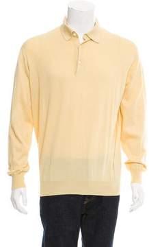 Loro Piana Long Sleeve Polo Sweater