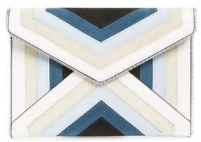 Rebecca Minkoff Leo Chevron Stripe Envelope Clutch - BLUE - STYLE