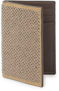 Giuseppe Zanotti Men's Studded Leather Bi-Fold Wallet