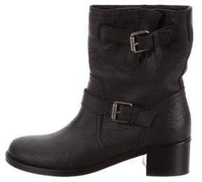Delman Leather Mid-Calf Boots