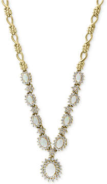 Effy Opal (2-1/4 ct. t.w.) & Diamond (2 ct. t.w.) Statement Necklace in 14k Gold