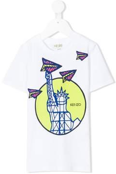 Kenzo Statue of Liberty print T-shirt