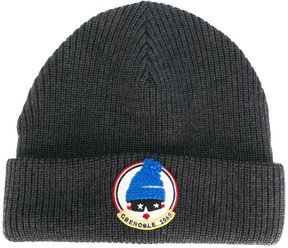 Moncler patch beanie hat