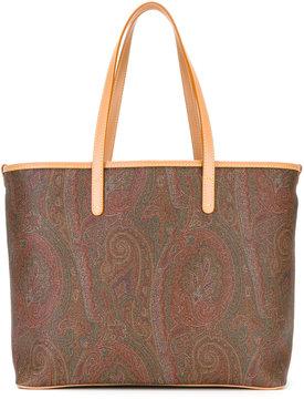 Etro abstract print shopping bag