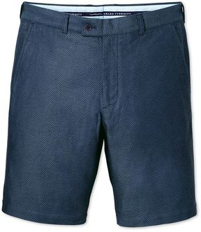 Charles Tyrwhitt Blue Slim Fit Dobby Cotton Shorts Size 42
