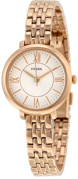 Fossil Jacqueline Silver Dial Rose Gold-tone Ladies Watch