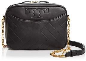 Tory Burch Alexa Leather Camera Bag - BLACK/GOLD - STYLE