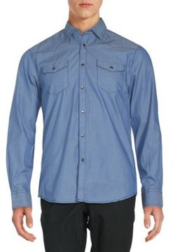 James Campbell Long Sleeve Solid Button-Down Shirt