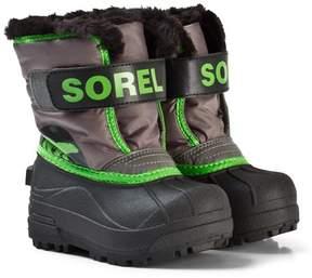 Sorel Cyber Green Children's Snow Commander Quarry