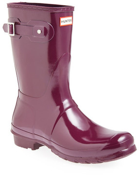 Hunter Waterproof Short Glossy Boot
