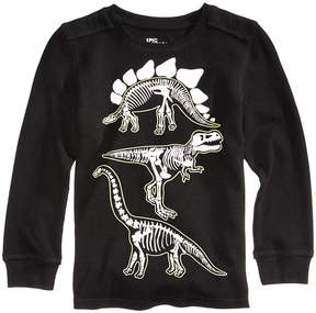 Epic Threads Glow-In-The-Dark Dinosaur Graphic-Print Thermal, Toddler Boys (2T-5T), Created for Macy's