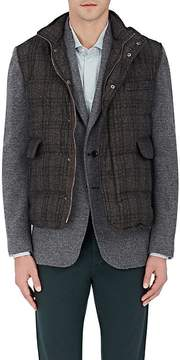 Isaia Men's Plaid Down-Quilted Wool Vest
